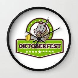 Donkey Beer Drinker Oktoberfest Retro Wall Clock