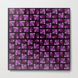 Fluid Art Pattern with Black Background Metal Print