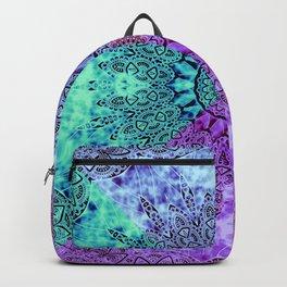 India Pattern Mandala Cloudy Clotting Blue Pink Purple Teal Backpack