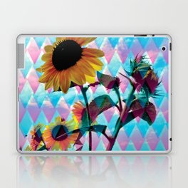 Sunflowers and a bee Laptop & iPad Skin