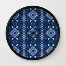 """Shibori Style """"Ladder"""" Wall Clock"""