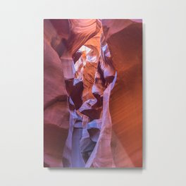 Looking down inside Lower Antelope Canyon Metal Print