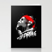 lebron Stationery Cards featuring Lebron J by squadcore