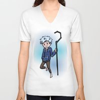 jack frost V-neck T-shirts featuring Jack Frost by Fenlaf