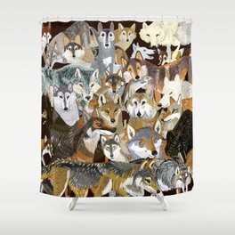 Wolves o´clock (Time to Wolf) Shower Curtain