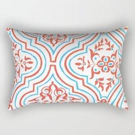 Oriental Pattern - Red Rectangular Pillow