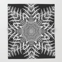 Black-and-White Abstract 23 Throw Blanket