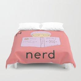 N is for Nerd Duvet Cover