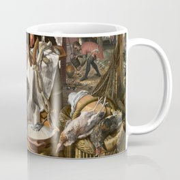 A Meat Stall with the Holy Family Giving Alms, 1551 Coffee Mug