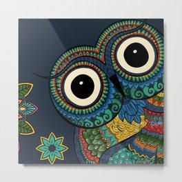 Owl Ooh-La-La Metal Print