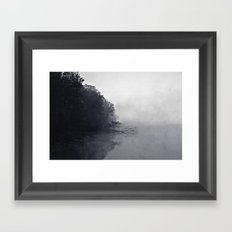 Foggy and Chilly morning at Alum Creek Framed Art Print
