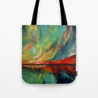 aurora Tote Bags featuring Aurora by Michael Creese
