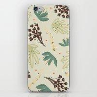 leaf iPhone & iPod Skins featuring leaf by Ceren Aksu Dikenci