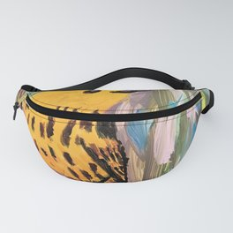 Yellow Warbler painting Fanny Pack