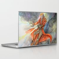 star lord Laptop & iPad Skins featuring Star-Lord Watercolor by Melissa M.