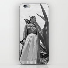 Frida Kahlo Photo with Agave Plant for Vogue iPhone Skin