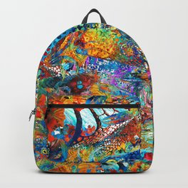 Tropical Beach Art - Under The Sea - Sharon Cummings Backpack