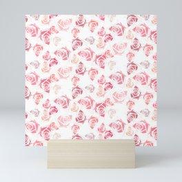 pink rose pattern Mini Art Print