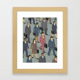 Happy commuter Framed Art Print
