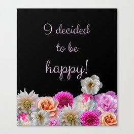 Flowers Cheer Canvas Print