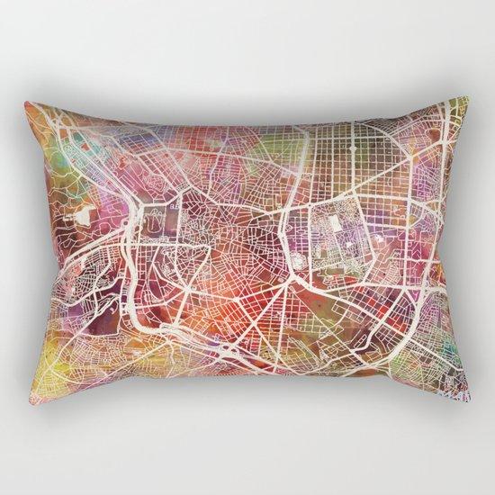 Madrid map Rectangular Pillow