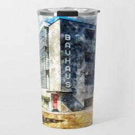 Bauhaus Dessau, Aquarell Travel Mug