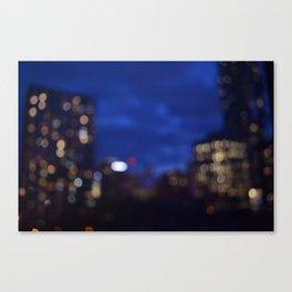 blurry nights Canvas Print