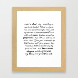 Prayer of Hymns Framed Art Print