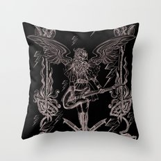 The Other Side (Grey) Throw Pillow