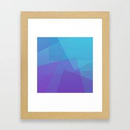 Purple Geometry Gerahmter Kunstdruck
