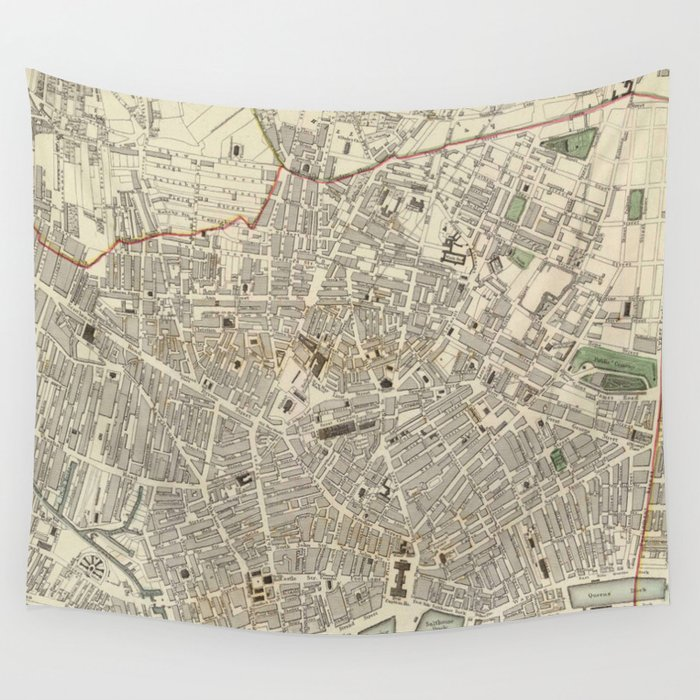 Vintage Map of Liverpool England (1836) Wall Tapestry by ...