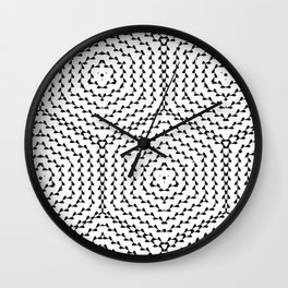black hexagon Wall Clock