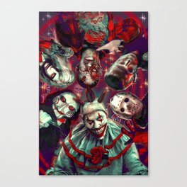 Twisty Jigsaw Jason Voorhees Terminator Psychedelic Spook Show Canvas Print