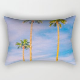 Palm Trees, Palm Tree, Desert, California, Summer, Landscape Photography, West Coast, Cali, Beach Rectangular Pillow