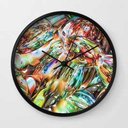 Colorful Melted Glass Wall Clock