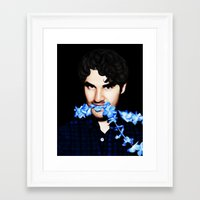 darren criss Framed Art Prints featuring Darren Criss by weepingwillow