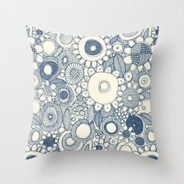 scramble blue pearl Throw Pillow