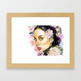 La Fille de Fleur Framed Art Print