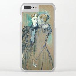 """Henri de Toulouse-Lautrec """"Deux femmes valsant"""" Clear iPhone Case"""