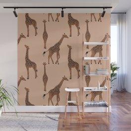 Giraffe neutral pattern Wall Mural