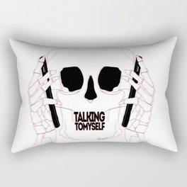 Talking to myself Rectangular Pillow