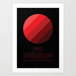 Galaxy Cake - Mars Art Print