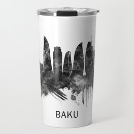 Baku Azerbaijan Skyline BW Travel Mug