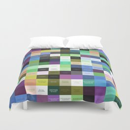 Colored life quotes Duvet Cover