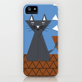 Cat on the roof iPhone Case