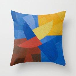 Otto Freundlich Komposition (Ca. 1932) Kunstmuseum Basel Colorful Geometric Art Throw Pillow