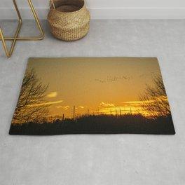 January Sunset - Lehigh Valley (Photography) Rug