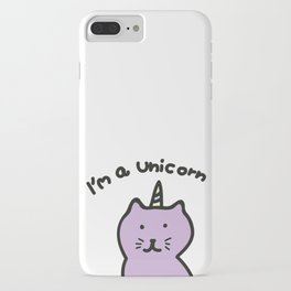 Cat unicorn iPhone Case