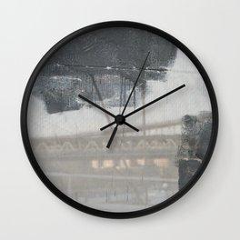 Brooklyn Bridge Abstraction III Wall Clock