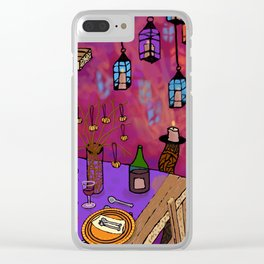 Autumn Table in Candlelight Clear iPhone Case